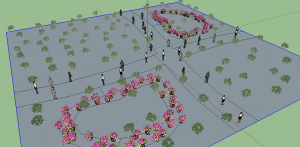 obj park - item placement in sketchup